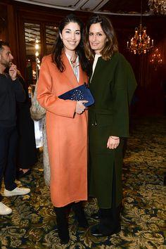 Caroline Issa e Isabelle Kountoure: laranja ou verde escuro?