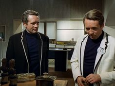 Patrick McGoohan and . Patrick McGoohan in The Prisoner episode 'The Schizoid Man'. Science Fiction, Spy Shows, 60s Tv, Emma Peel, Spy Games, Pink Minnie, Sci Fi Tv, Weird Stories, Iconic Movies