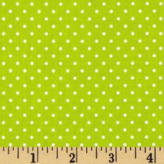 Riley Blake Swiss Dots Lime/White from @fabricdotcom  Designed by RBD Designers for Riley Blake Designs, this cotton print fabric is perfect for crafts, quilting, apparel and home décor accents.