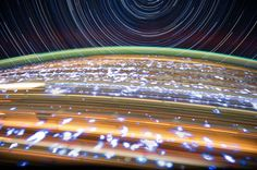 composite of a series of images photographed from a mounted camera on the Earth-orbiting International Space Station, from approximately 240 miles above Earth by astronaut Donald Pettit