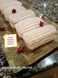 Royal Creams recipe by Ruhana Ebrahim posted on 18 Jun 2018 . Recipe has a rating of by 1 members and the recipe belongs in the Biscuits & Pastries recipes category Eggless Recipes, Halal Recipes, Milk Recipes, Cream Recipes, Sweet Recipes, Baking Recipes, Puri Recipes, Yummy Recipes, Recipies