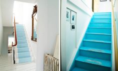 perfect for beach house Haint Blue, Dream Beach Houses, Painted Stairs, Little Houses, Coastal Decor, Stairways, Home Projects, Decor Styles, Design Trends