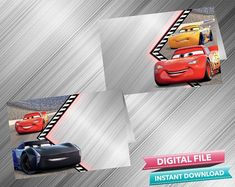 Cars 3 Food Tent - INSTANT DOWNLOAD