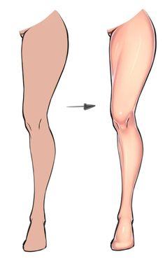 Leg coloring tutorial by xxNIKICHENxx || Video - www.youtube.com/watch?v=aLMPyk…