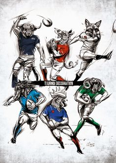 "Guillaume Clavier #Tournoi des 6 nations #Rugby #Illustration Le ""Tournoi dessination"": C'est parti !"