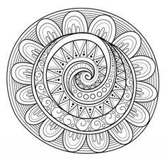 Hypnotizing mandala doodle