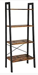 Home Office Furniture Chic Industrial Vintage Ladder Shelf, SIN MON Bookshelf Storage Rack Sh