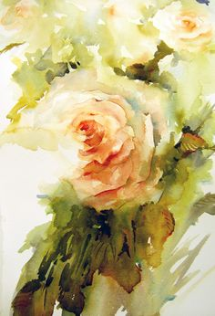"The Magic of Watercolour Painting Virtual Gallery - Jean Haines, Artist - Summer, Title: ""Essence Of Summer"""