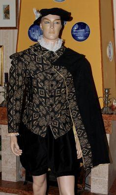 ESEMPIO DI ABITO MASCHILE IN MODA SECONDA META' 1500