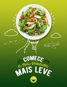 """Check out this project: """"Equilíbrio & Sabor – Social Media"""" www.be… - My Design Ideas 2019 Food Graphic Design, Food Menu Design, Food Poster Design, Graphisches Design, Creative Poster Design, Ads Creative, Print Design, Design Ideas, Creative Posters"""