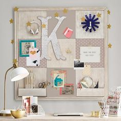 Add the finishing touches with our selection of teen room decor. Shop Pottery Barn Teen's room accessories and decor in bold designs, bright colors, and innovative materials Cork Board Ideas For Bedroom, Diy Cork Board, Cork Boards, Teen Room Decor, Teen Bedroom, Room Decor Bedroom, Diploma Display, Consoles, Chalkboard Wall Bedroom