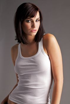 Hairstyle for long face - Long bob with bangs - Hairstyles for long faces