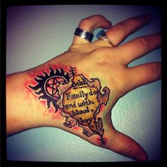 supernatural fan tattoos - Google Search