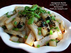 Bo's mungbean jelly (cheongpomuk muchim) by maangchi, via Flickr