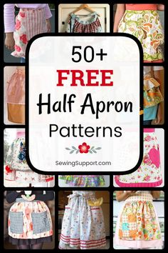 Half Apron DIY. Over 50 Free Half Apron Patterns, tutorials, and diy sewing projects. Sew vintage and retro aprons, cute ruffle aprons, simple and easy waist aprons, and more. #SewingSupport #Apron #Diy #Pattern #Sewing #Projects #Tutorial Half Apron Patterns, Sewing Patterns Free, Free Sewing, Pattern Sewing, Gifts For Teen Boys, Gifts For Teens, Diy Sewing Projects, Sewing Tips, Sewing Tutorials