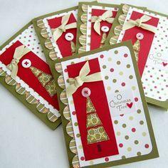 rot-grün Weihnachtskarte-selber machen