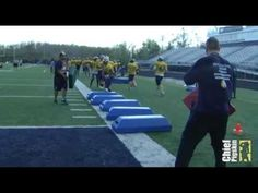 Marian University: Running Back Drills - Bags to a Move - YouTube