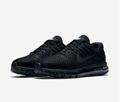 the latest 91f9c e8823 Nike Air Max 2017 Mesh All Black All Black Nike Trainers, All Black Nike  Shoes