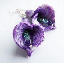 Pretty Fimo Flower Earrings