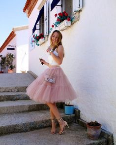 Blush tulle skirt