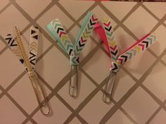 Chevron Print Ribbon Planner Clips/Bookmarks by BookmarkBitches