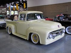 56 Ford F100...my uncle bought this as his first brand new car...I remember the day he bought it.