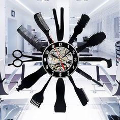 Hairdresser Vinyl Record Wall Clock