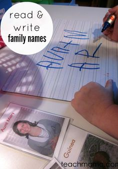 Family Playing Cards are a great way to 'play' with family members and learn loved ones' names along the way! #ece #literacy #weteach