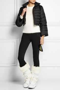 apres ski look:  Perfect Moment + Helen Lee cropped quilted shell jacket #ski #NETASPORTER