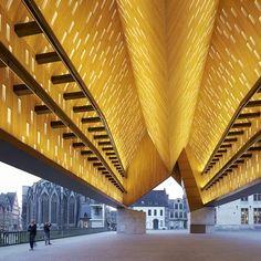 Market Hall in Ghent, Belgium by Robbrecht en Daem and Marie-José Van Hee