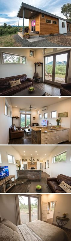 Tiny House Living: The Orchard: a 750 sq ft park model home from Idea. Tiny House Cabin, Tiny House Living, Tiny House Design, Small House Plans, Small Living, Interior Design Minimalist, Home Interior Design, Casas Containers, Tiny House Movement