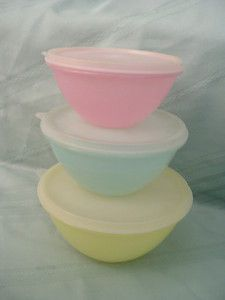 3 Vintage Tupperware Wonderlier Bowls Containers With Lids GUC Estate Sale | eBay