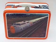 CP Rail Train Kids School Metal Lunchbox Lunch Box No Thermos Ohio Art