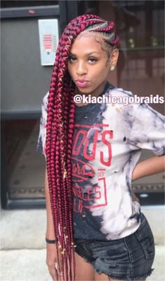 #BRAIDS #HAIRSTYLES Book With Kia Follow Our  Hair,Nails,And Style ! Click to See More...