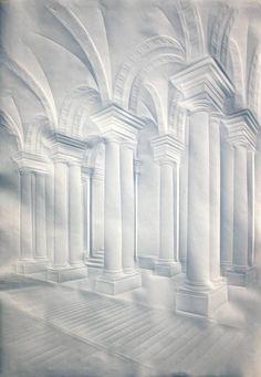 Simon Schubert (Alemania) - Pasillo del Palacio Real de Berlín, 2011, 100 x 75 cm.