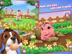 How to learn about animals the fun way... Easy with our latest TOP PICK - Meet My Farm Friends by Little Friends - Musical Fun http://www.funeducationalapps.com/2014/11/meet-my-farm-friends-an-interactive-music-and-exploration-app-for-toddlers-review-.html #kidsapps #preschool #toddlers