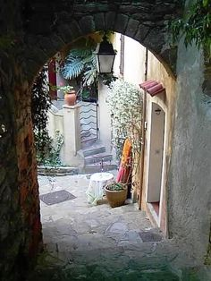 Arched walkway - Aups, Provence-Alpes-Cote-dAzur, France  www.liberatingdivineconsciousness.com