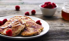 Raspberry breakfast pancakes