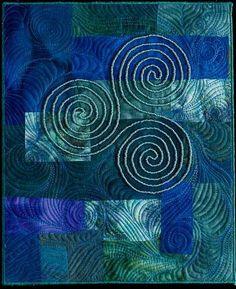 celtic spiral blue