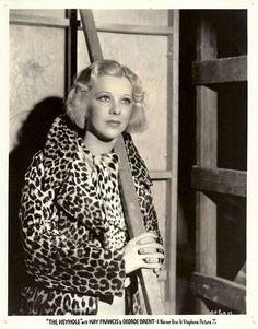 Glenda Farrell leopard coat