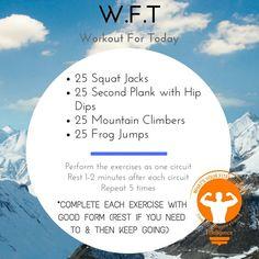 #WFT #WorkoutForToday #WOD #fitelligence #mondaymotivation