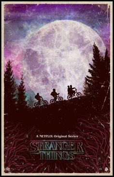 Stranger Things Poster ET alike #moon