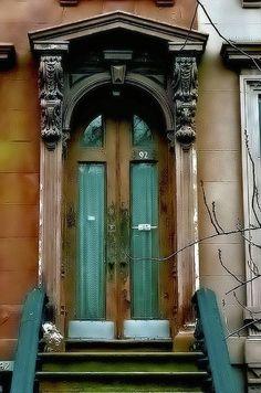 Brownstone Door in Caroll Gardens, Brooklyn, New York City