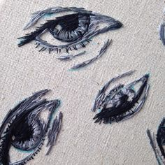 Hand embroidered eyes!