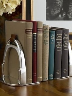 Derbyshire Stirrup Bookends - Ralph Lauren with a touch of Jane Austen. So good.
