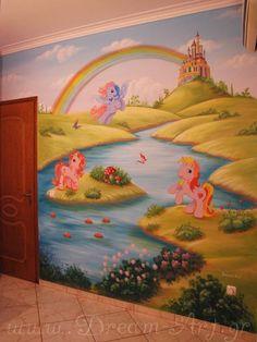 Ζωγραφική παιδικού δωματίου με θέμα το Μικρό μου Πόνυ