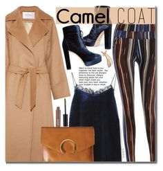 """Wear a Camel Coat!"" by beebeely-look ❤ liked on Polyvore featuring Jimmy Choo, MaxMara, coat, StreetChic, camelcoat and twinkledeals"