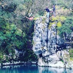 Jumping in Voidomatis river in the winter. Not a great idea for your manhood but @tceccanti is not the guy who says no to a challenge. www.exploretheoutside.com/earth/ #exploreoutside #hikingadventures #visitgreece #Zagori Hiking Trips, G Adventures, Mount Rushmore, The Outsiders, Greece, Guy, Challenges, Earth, River