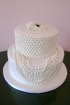 Bridal Shower Cakes NY - String of Pearls Custom Cake
