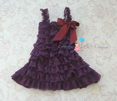 Dark Purple Plum Lace Dress baby girls dress by HappyBOWtique, $26.99, baby Quinn for Flower girl dress?